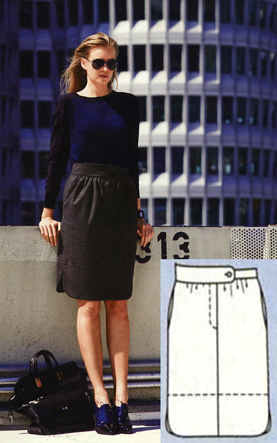 Burda-Sept-2014 Contour Hem Skirt