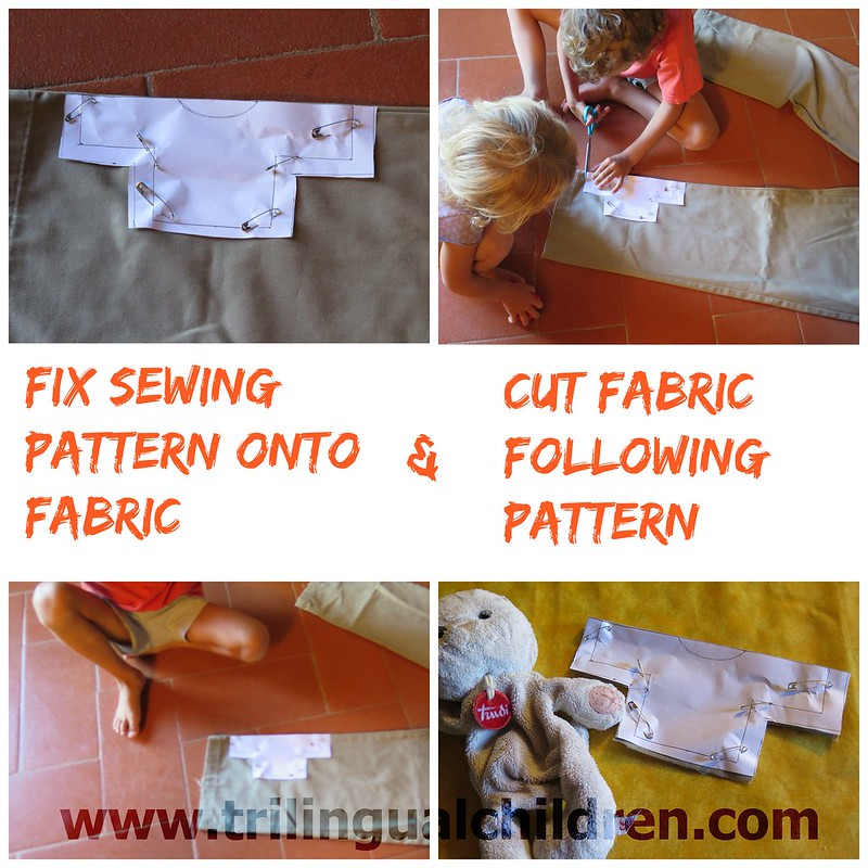 Fix sewing pattern onto fabric cut
