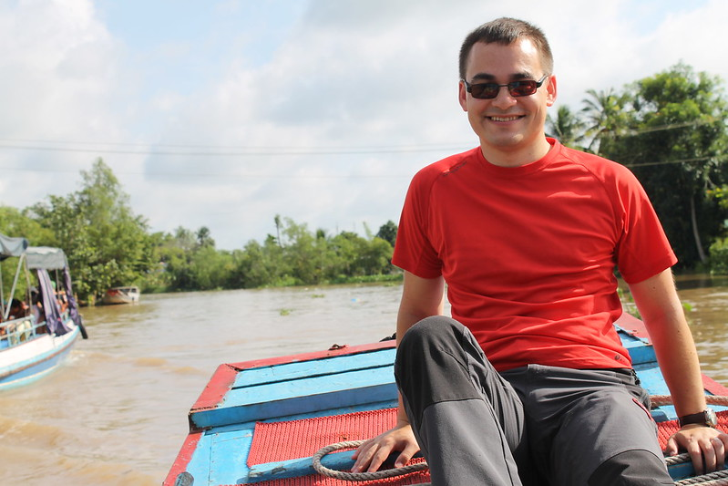 Sampan ride on the Mekong River