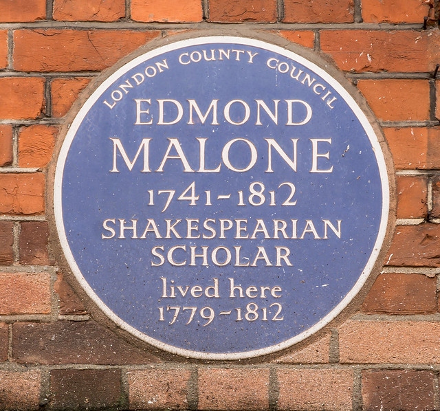 Photo of Edmond Malone blue plaque