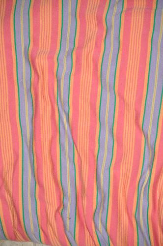 Pink Stripes lycra stripe knit