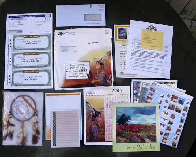 St. Joseph's Indian School junk mail