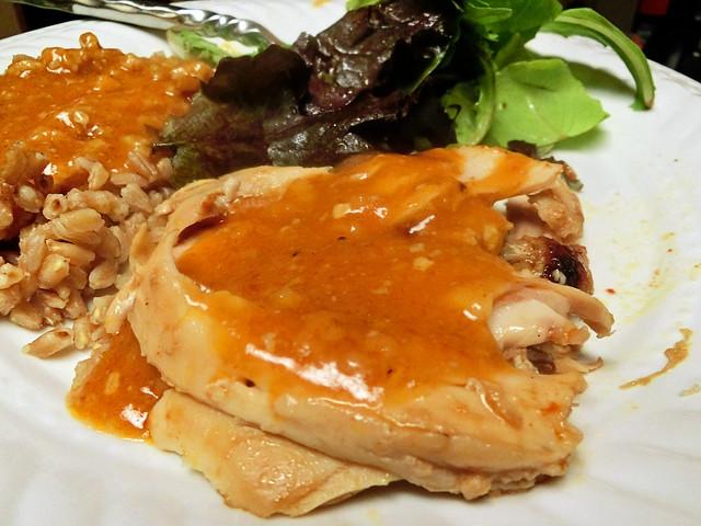 Sriracha Roast Chicken & Sriracha Gravy