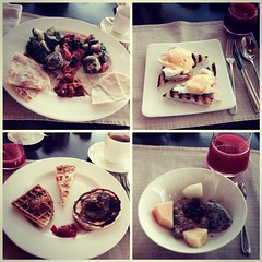 Petité breakfast at 18° in Hyatt Capital Gate #InAbuDhabi