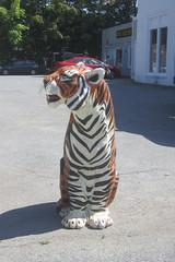 animal, tiger, sculpture, mammal,