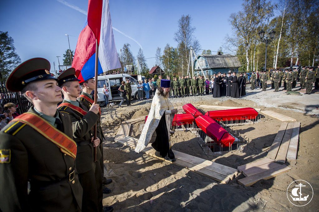 20 сентября 2014, Захоронение останков воинов в п. Апраксин / 20 September 2014, Burial of the remains of soldiers in the Apraksin village