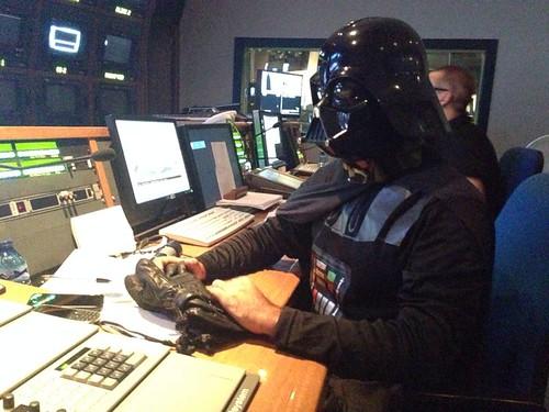 Darth Vader realizando la ruleta