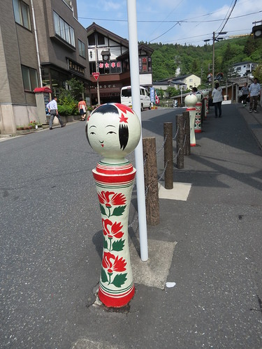 Naruko Onsen - Kokeshi in the street