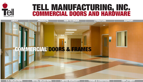 Tell Manufacturing is a US manufacturer and distributor of commercial doors, locks and hardware