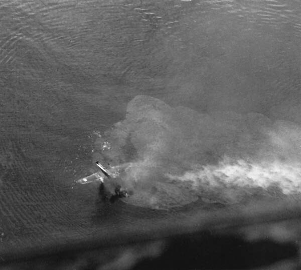 Sinking 38th Bomb Group B-25