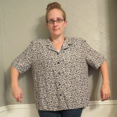 Floral Polka Dot Blouse - Before