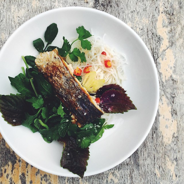 Vietnamese Grilled Fish Noodle Salad