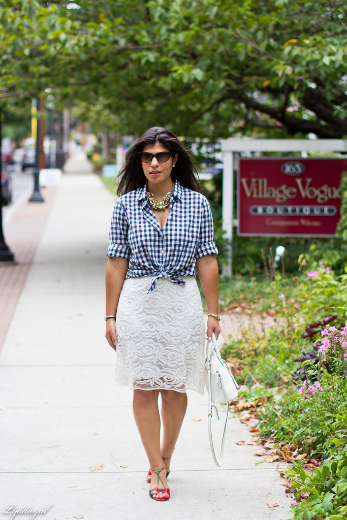 Lace skirt, gingham shirt, cherry pumps-2.jpg