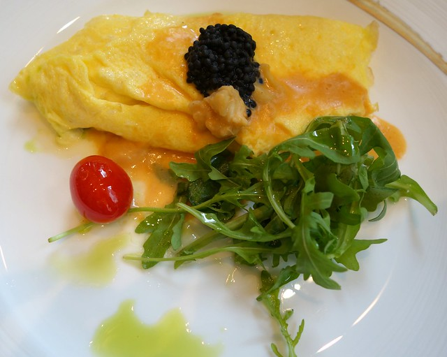 Omelette with Lobster Sauce. Sunday Brunch at Brasserie Les Saveurs. St Regis Singapore