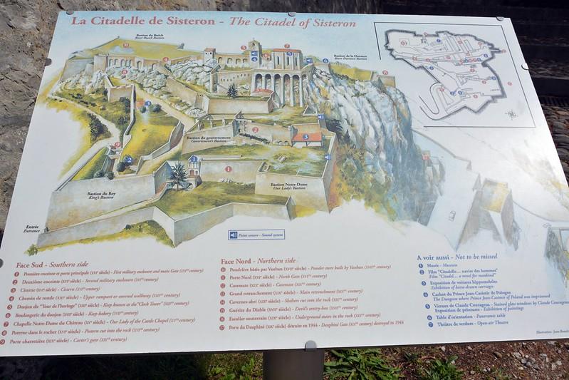 Mapa Sisteron