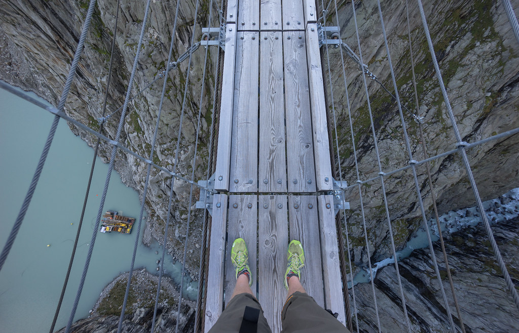 trift bridge is a long way up