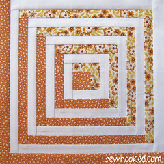 Paper Piecing Vintage October 2014 Block
