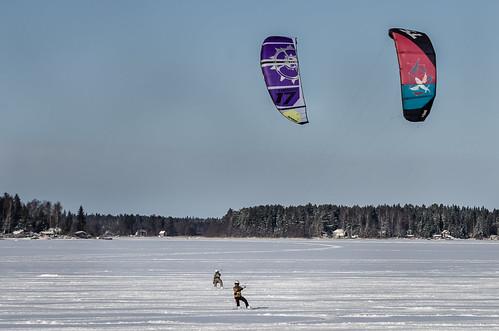ice vaasa kite snow vasa winter ostrobothnia finland