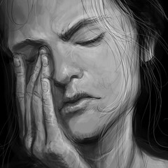 Always fun to do #value studies. Here is a #closeup of a #digitalpainting