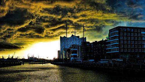 Storm over Hafencity - Hamburg