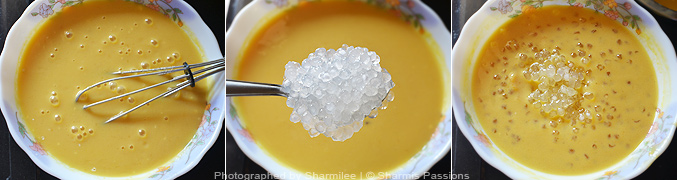 How to make mango sago - Step4