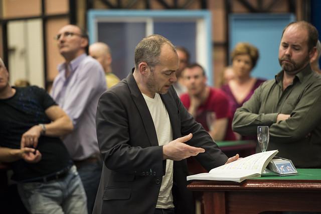 Christopher Maltman in rehearsal for his role as Lescaut in Manon Lescaut ©ROH/Bill Cooper, 2014