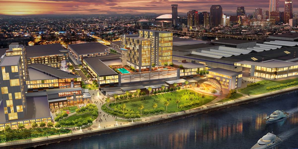 Bill Signing Signals Approval To Revitalize New Orleans: Map New Orleans Morial Convention Center At Usa Maps
