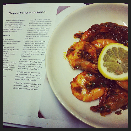 Finger-licking shrimps