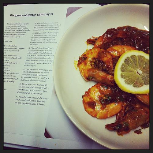 Finger-licking shrimps