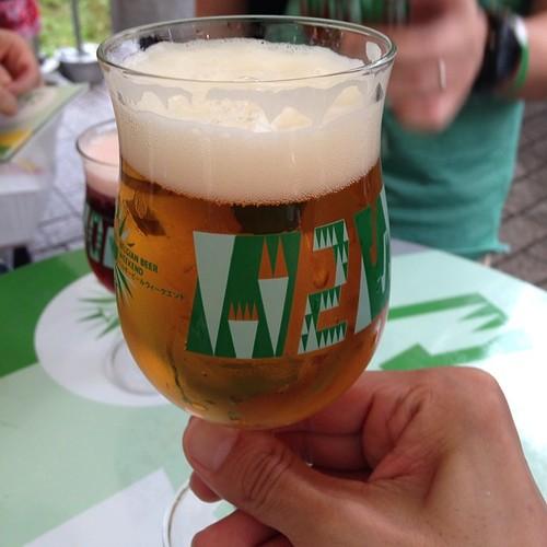 ベルギービールウイークエンドにて。マレッツ ブロンドです。