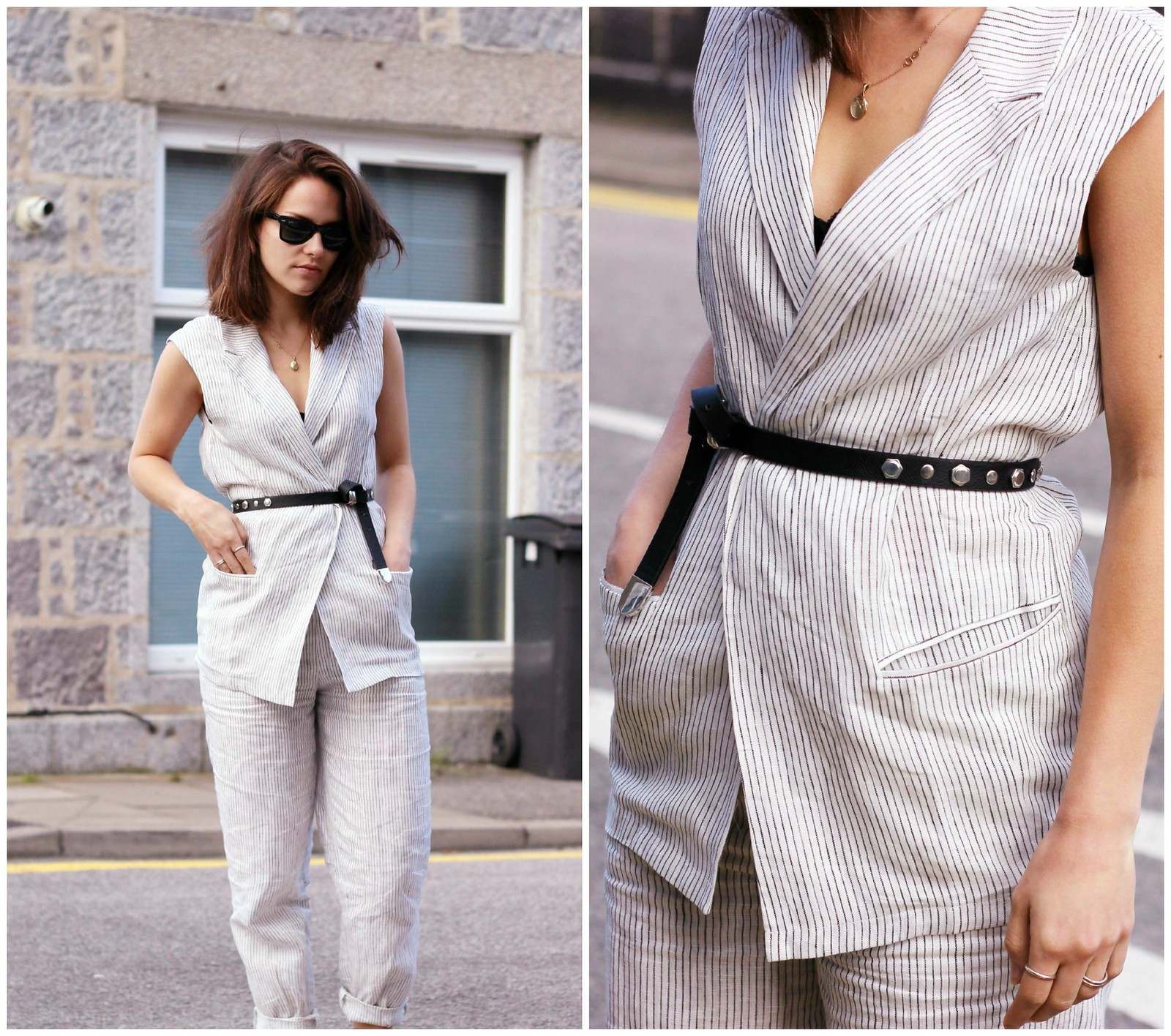 Frontrowshop stripe two piece