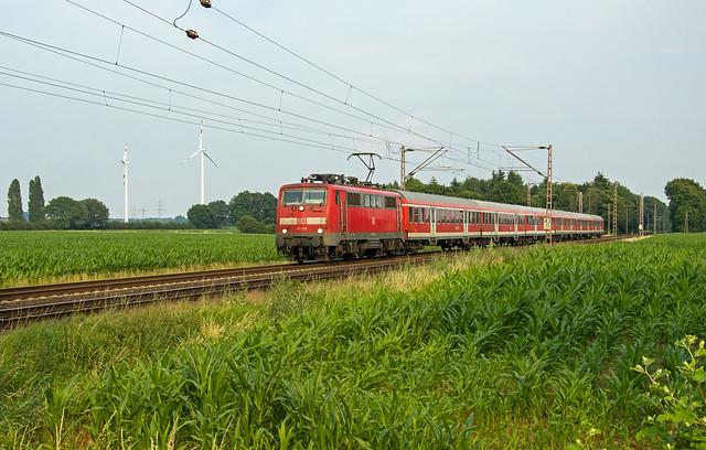 Haldern DB 111 016 als RB35 naar Emmerich