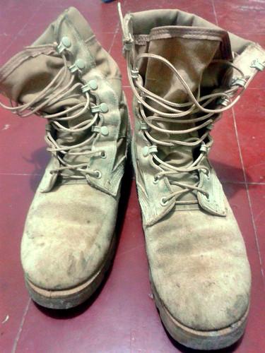 My trusty combat boots.