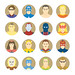 Golden age Superheroes flat icons