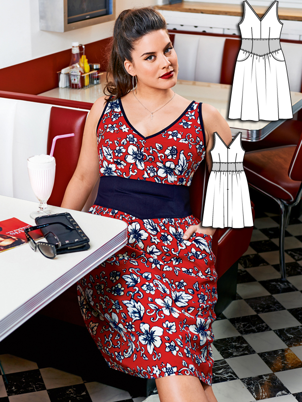 Soda fountain dress plus size