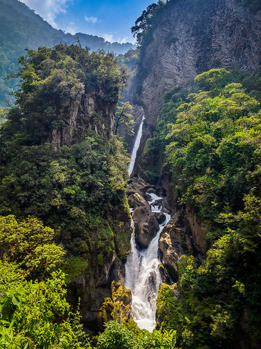 waterfall ecuador tungurahua