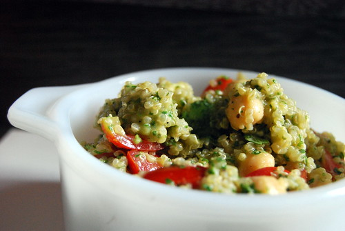 Summer Quinoa Salad - black background-001