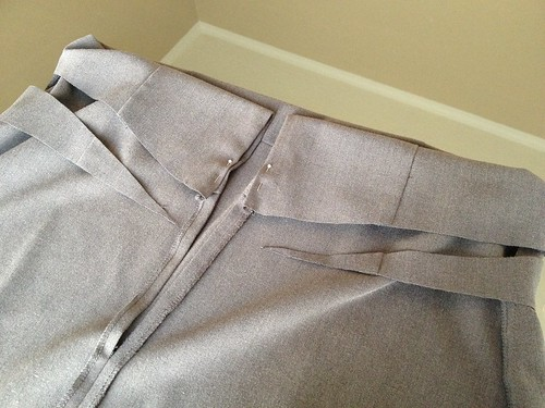 Grey Pencil Skirt - In Progress