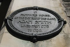 Photo of Adam Smith black plaque