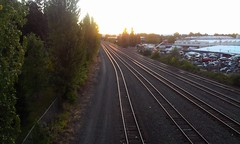 Sun sets over North Portland.