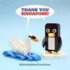 BricksBen - LEGO White Swan and Penguin - Thank You Singapore