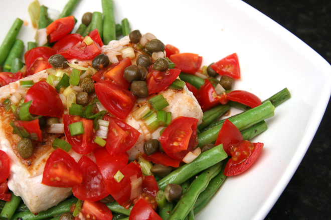 halibut green beans 6
