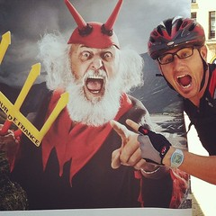 Gabri doing a decent impression of The Tour's very own #didisenft aka #eldiablo #tdf