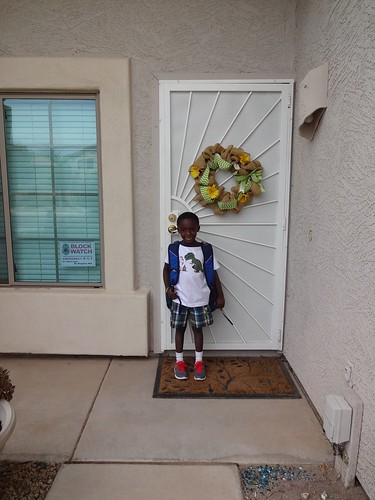 Paul on his first day of 2nd grade