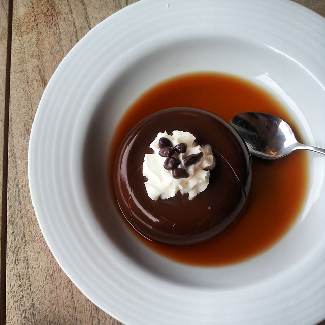 Chocolate martini pudding