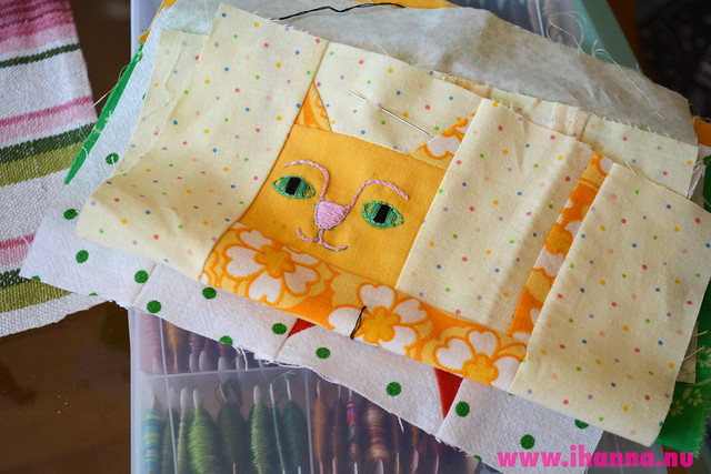 Patchwork Embroidered Cat