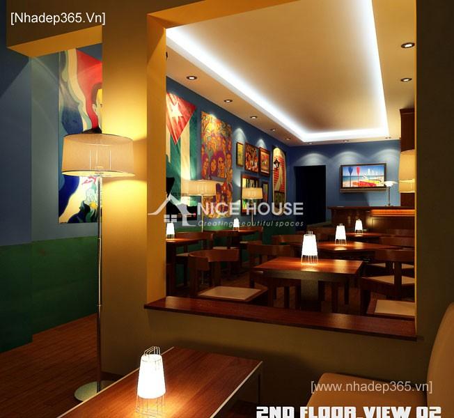 Nội thất quán cafe Cu Ba - HN_1