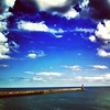 Tynemouth #pier  #seashore #sea #water #clouds #clearskys #skywatcher #sky #skyporn #skylovers