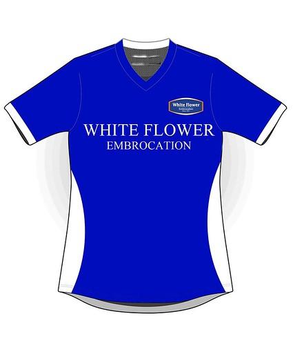 White Flower Run 2014 finisher shirt front