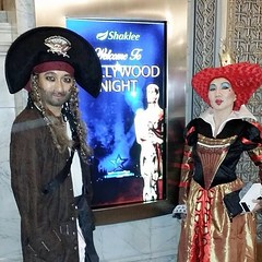 Captain Jack Sparrow & Queen of Heart. Both the champions for Shaklee Hollywood Night in San Francisco. Yahoo! :)